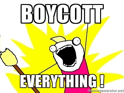 Image result for boycott everything
